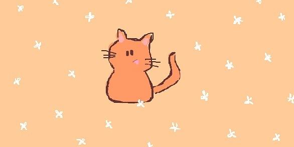 Рыжий весёлый котик в белых цветах